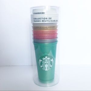 Starbucks 2018 reusable cup collection lot of 6